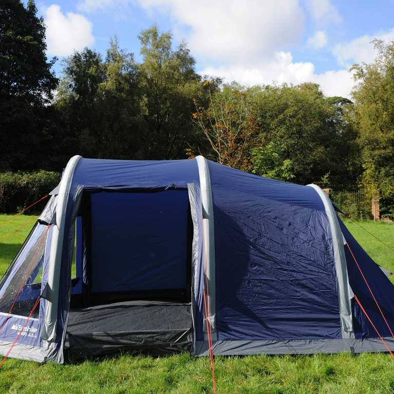 The ground sheet can fold flat for easy access