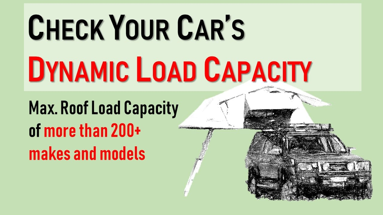 Which roof tent fits your car? Find out by checking the dynamic load capacity of your car first.