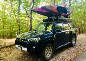 Roofnest SandPiper - The Cheapest Rooftent with kayaks on top