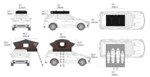X-Cover - 4 person roof tent on paper, maybe a bit slim even for 2 adults and 2 kids