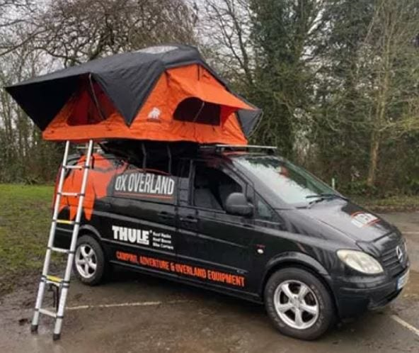 OxOverland Dakota 210 rooftent with dual skywindows -