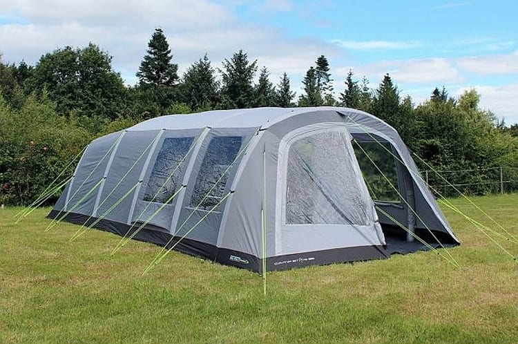 Outdoor Revolution Campstar 600 review, pros and cons - more than 7 metres long with a versatile porch entrance.