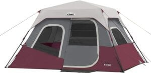CORE 6-person Instant Cabin Tent - best 6-person tents reviewed 10TS tents
